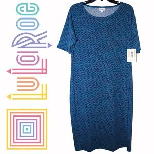 Lularoe – Julia Blue & Purple Abstract Dress